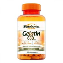 Gelatin Natural Sundown 650mg 100 Cápsulas