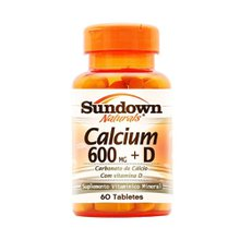Calcium + D3 600mg Sundown Naturals 60 Cápsulas