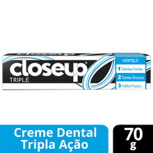 Creme Dental com Flúor Closeup Triple Hortelã 70g