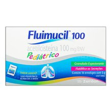 Fluimucil 20mg granulado 16 envelopes com 5g (100mg)
