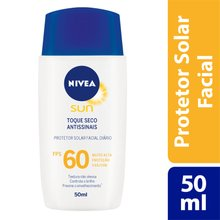 Protetor Solar Facial Nivea Sun Toque Seco Antissinais FPS60 50ml