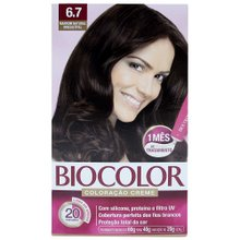 Tintura Creme Biocolor Niasi Marrom Natural 6.7 Kit