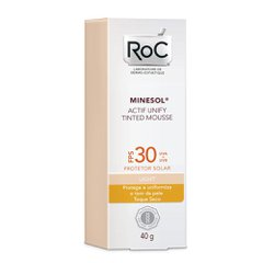 Protetor Solar RoC Minesol Actif Unify Tinted Mousse Light FPS 30