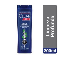 Shampoo Clear Men Anticaspa Limpeza Profunda 200ml