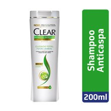 Shampoo Clear Women Anticaspa Fusão Herbal Cuidado Total 200ml