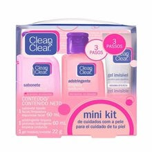 Mini Kit  Loção Clean & Clear Pele Normal  com 1 Sabonete Líquido Facial 60ml +1 Adstringente 60ml + 1 Gel Secativo 22g