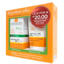 Kit proteção Solar La Roche-Posay 1 Anthelios Airlicium fps 30  50g + 1 Anthelios XL-Protect FPS 30 120mL