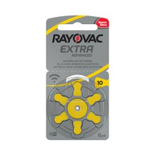Pilha AUDITIVA 10 EXTRA ADVANCED RAYOVAC 6 UNIDADES