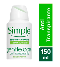 Desodorante Simple Gentle Care Aerosol  150ml