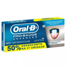 Creme Dental Oral-B Pro-Saúde Advanced  kit com 2 unidades de 70g cada