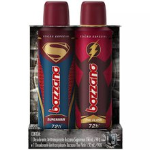 Kit Desodorante Bozzano Superman X Flash Aerosol 150mL cada
