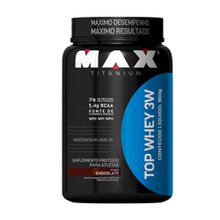 Top Whey 3W Max Titanium sabor chocolate 900g