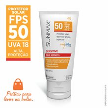 Protetor Solar Sunmax Sensitive Pocket FPS 50 25ml