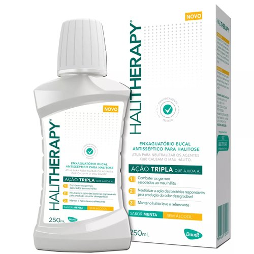 Antisséptico Bucal Halitherapy Menta 250ml