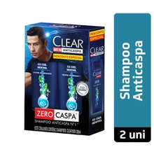Kit Shampoo Clear Men Ice Cool Menthol 2 unidades de 200ml - Desconto Especial