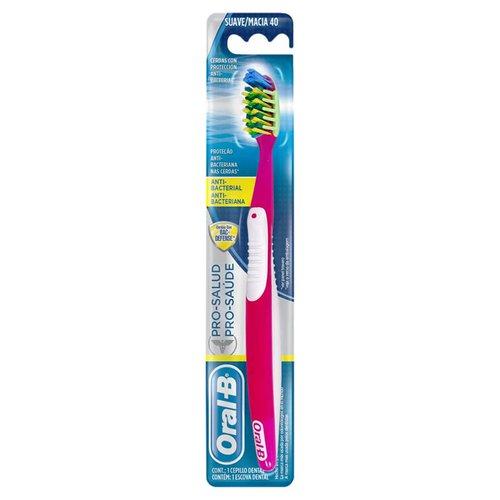 Escova Dental Oral-B Pro-Saúde Antibacteriana - Macia 40 623301e07d41