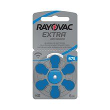 Pilha Rayovac Auditiva Extra Advanced 675 1.4v 6 unidades