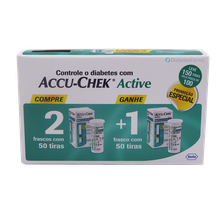 Tiras Accuchek Active Leve 3 Pague 2