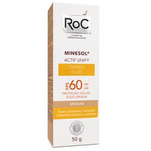 Protetor Solar Roc Minesol Actif Unify Fluid Medium FPS60 50g