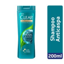 Shampoo Clear Anticaspa Women Detox Diário 200ml