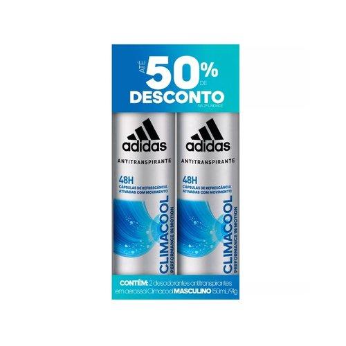b42780385 Kit Desodorante Adidas Climacool Masculino Aerosol 150ml - Ganhe 50% de  Desconto na 2 unidade
