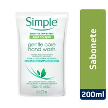 Sabonete Liquido Mãos Simple Refil 200ml