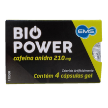 Bio Power ems - cafeína anidra 210mg 4 Cápsulas gel