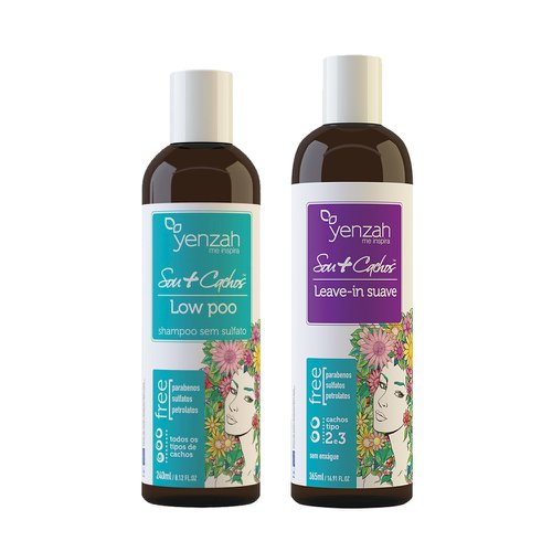 Kit Yenzah Sou+ Cachos Shampoo Lowpoo 240ml + Leave In Suave 365ml