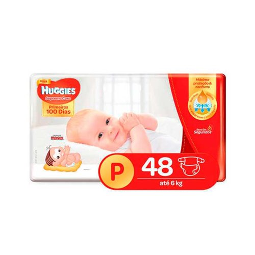 Fralda Huggies Supreme Care P 48 Fraldas