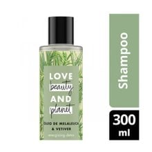 Shampoo Love, Beauty and Planet Energizing Detox Óleo de Melaleuca & Vetiver 300ml