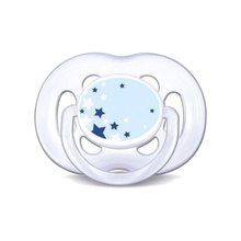 Chupeta Flavours Avent Freeflow Noturna Azul 6-18 meses