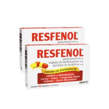 Kit 2 Resfenol 20 cápsulas - Pague R$11,99 Cada