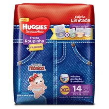 Fralda Huggies Roupinha Fashion Supreme Care XG 14 Fraldas