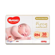 Fralda Huggies Natural Care RN 38 Fraldas