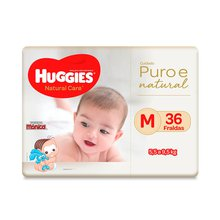 Fralda Huggies Natural Care M 36 Fraldas
