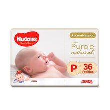 Fralda Huggies Natural Care P 36 Fraldas