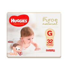Fralda Huggies Natural Care G 32 Fraldas