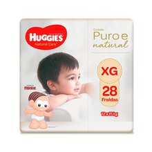 Fralda Huggies Natural Care XG 28 Fraldas