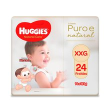 Fralda Huggies Natural Care XXG 24 Fraldas