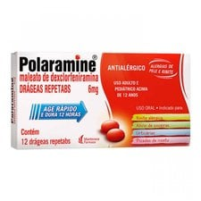 Polaramine 6mg com 12 Drágeas Repetabs