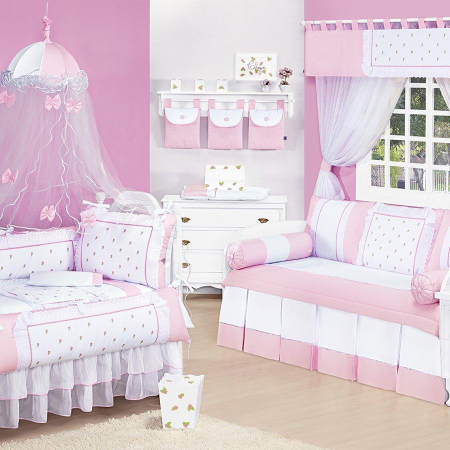 Quarto de beb completo briolet rosa sem enxoval cama bab for Divan cama completo