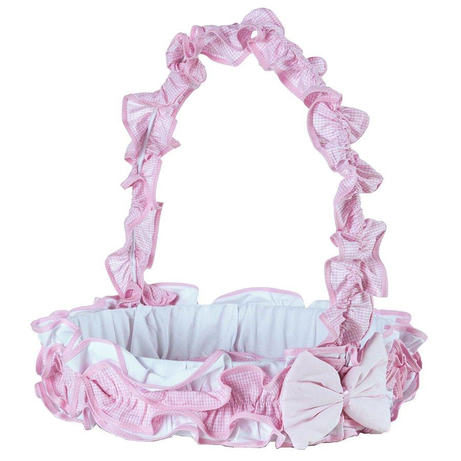 Cesta Decorada Para Quarto Enxoval Beb Menina Luxo Rosa  ~ Quarto Do Bebe Menina Com Quarto De Bebe De Luxo
