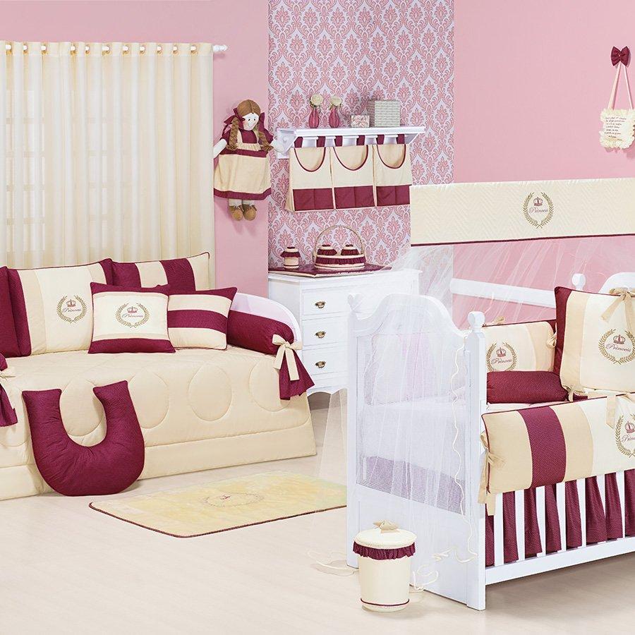Quarto De Beb Completo My Princess Bord Sem Enxoval Cama Bab