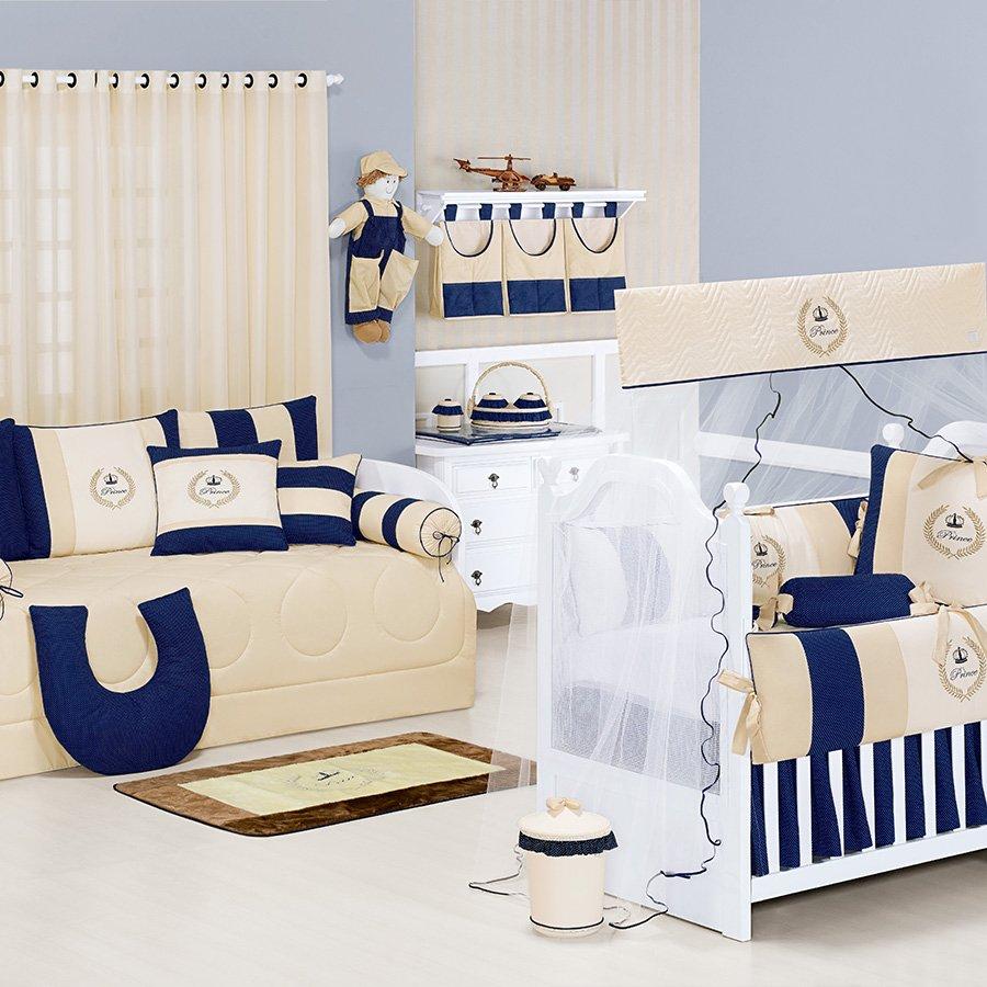 Quarto Completo Sem Cama Baba Happy Baby Ursinho Menino Branco Cl  ~ Quarto Bebe Masculino Azul Marinho