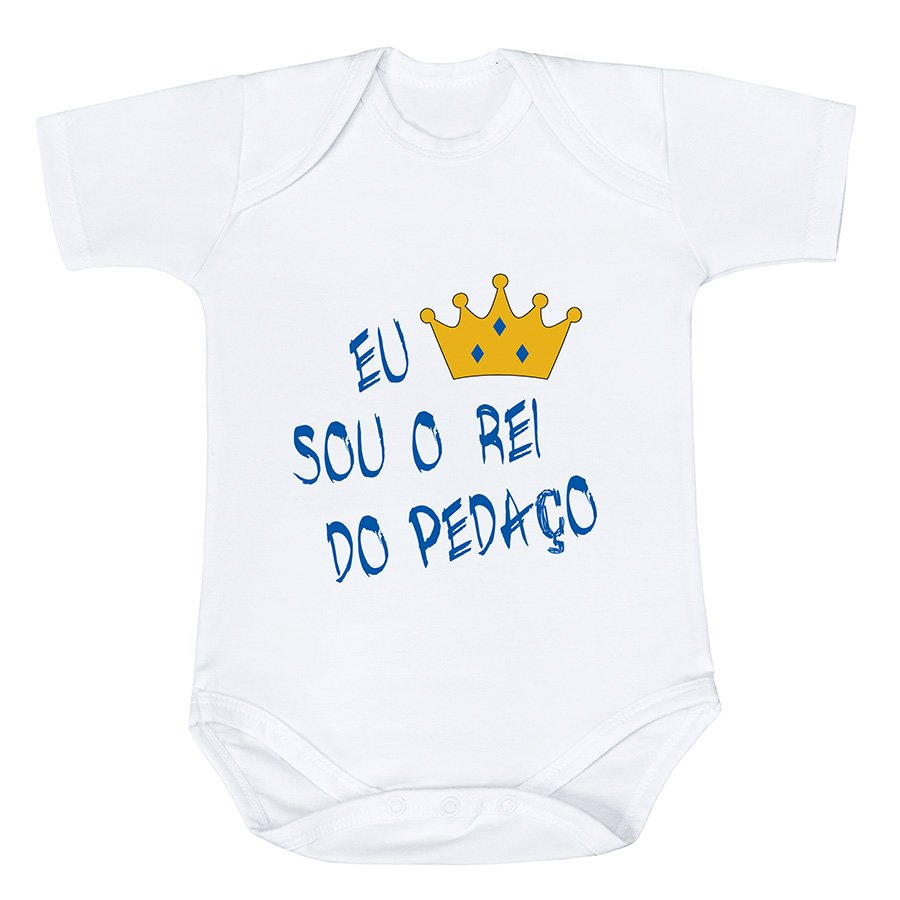 ef23744a0 Body de Bebê Rei do Pedaço Manga Curta | Essencial Enxovais