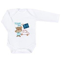 814f059e8 Body de Bebê Urso Teddy Estampado Manga Longa