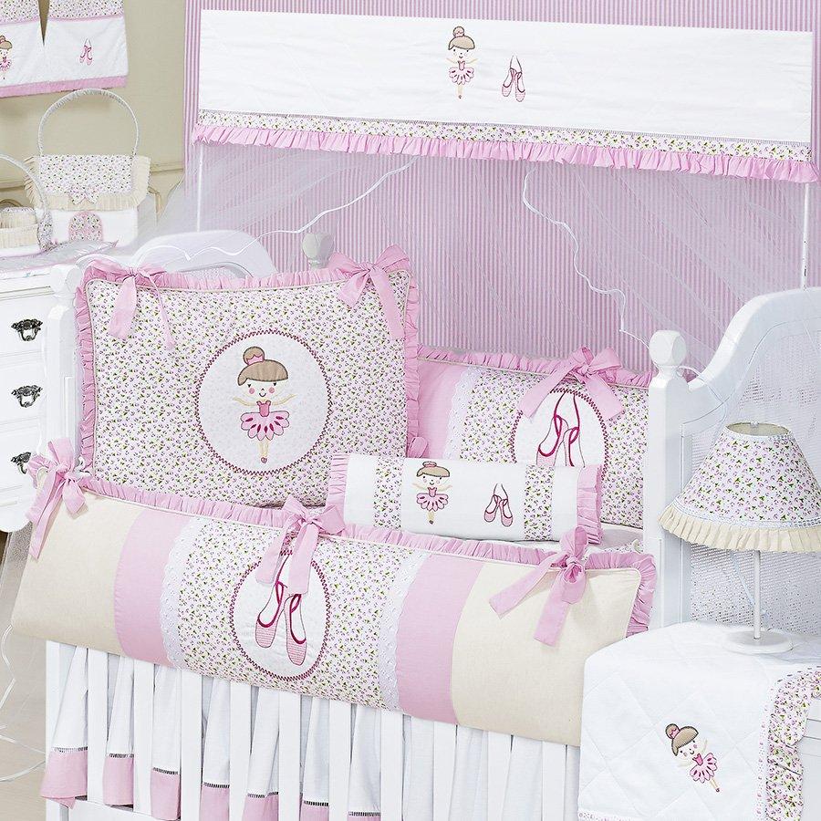 Kit Ber O Bailarina Rosa Tema Boneca Essencial Enxovais