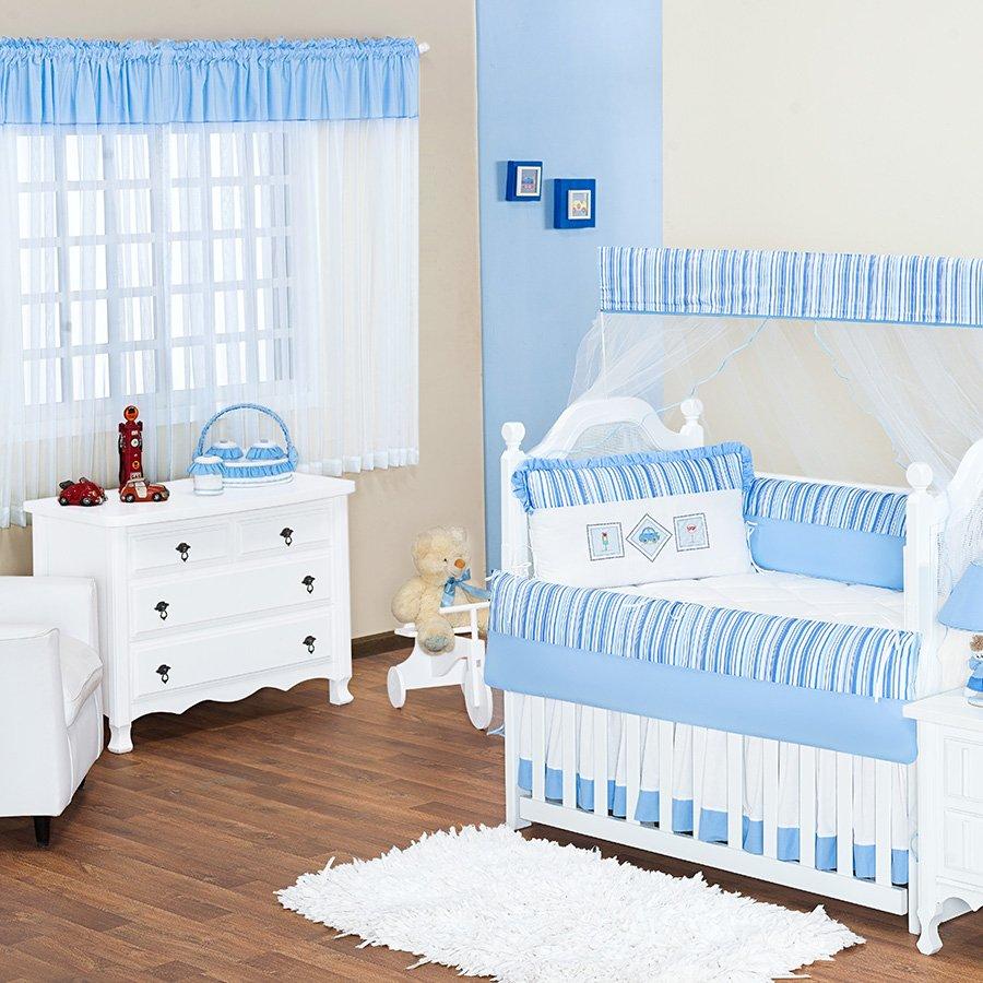 Quarto De Beb Carrinho Azul Tema Transporte Essencial Enxovais ~ Imagens De Quarto De Bebe Simples