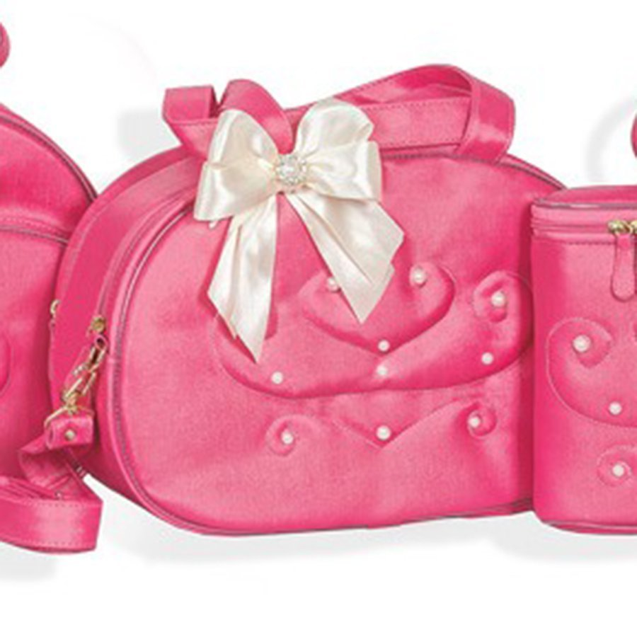 Bolsa De Perola Infantil : Bolsa de maternidade p?rola rosa chiclete p essencial