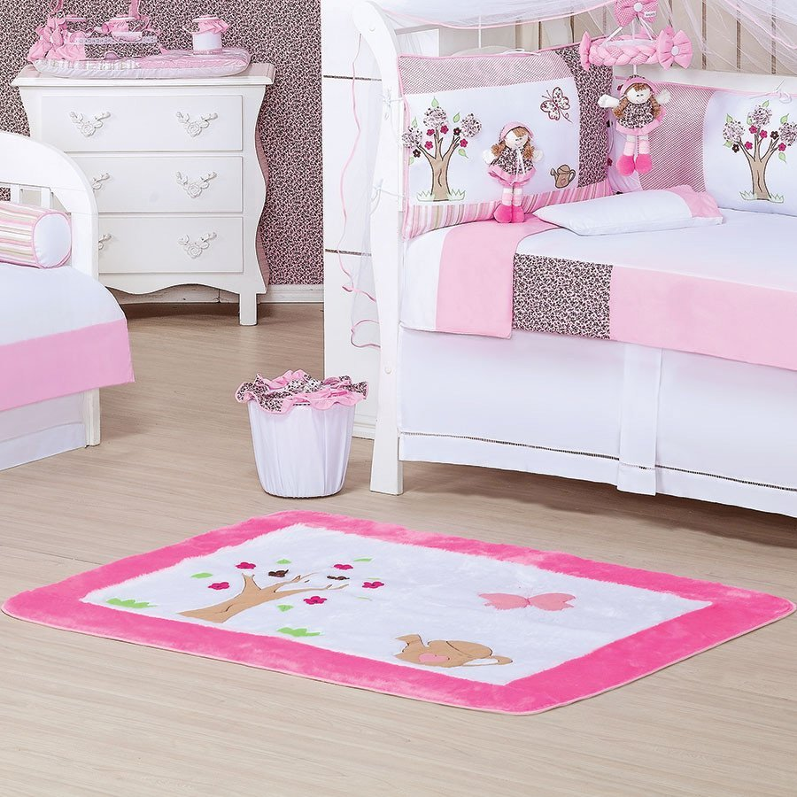 Abajur Para Quarto Enxoval Beb Menina Clarinha Branco Rosa  ~ Abajur Para Quarto De Bebe Feminino